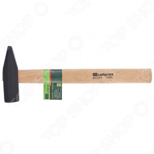 Молоток слесарный СИБРТЕХ с деревянной рукояткой