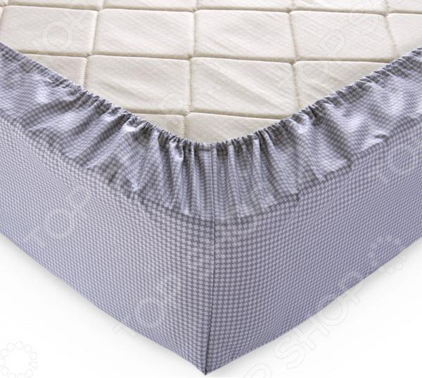 Простыня на резинке ТексДизайн «Текстура». Цвет: серый