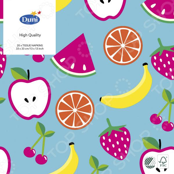 Салфетки бумажные Duni Fruits 173389