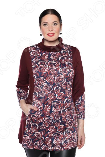 цена Блуза Pretty Woman «Бьянка». Цвет: бордовый онлайн в 2017 году