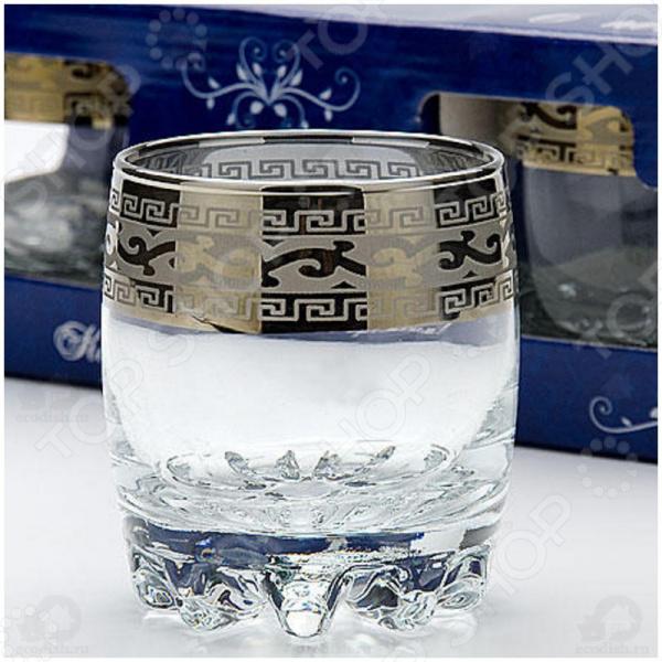 Набор стаканов для виски Гусь Хрустальный «Версаче» набор бокалов для коньяка гусь хрустальный версаче