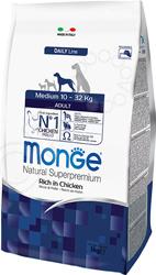 Корм сухой для собак средних пород Monge Natural Superpremium Medium Rich in Chicken