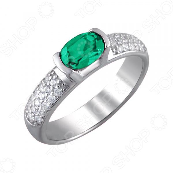 Кольцо «Принцесса Персии» 01К252703-2. Модель: наноизумруд