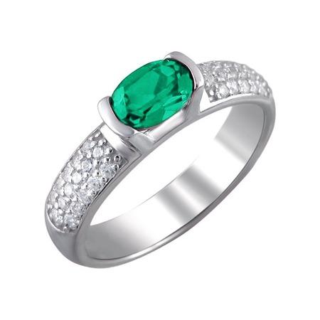 Купить Кольцо «Принцесса Персии» 01К252703-2. Модель: наноизумруд