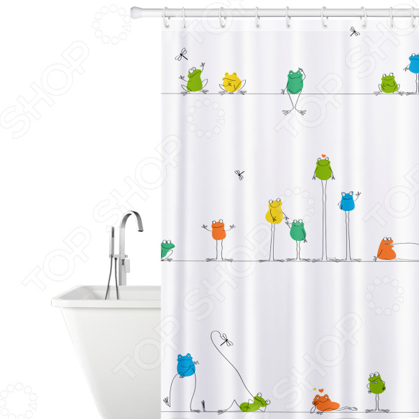 Штора для ванной Tatkraft Funny Frogs