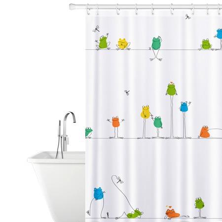 Купить Штора для ванной Tatkraft Funny Frogs