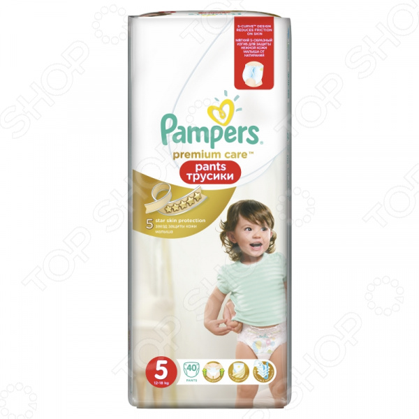 �������-���������� Pampers Premium Care Pants 12-18 ��, ������ 5, 40 ��.