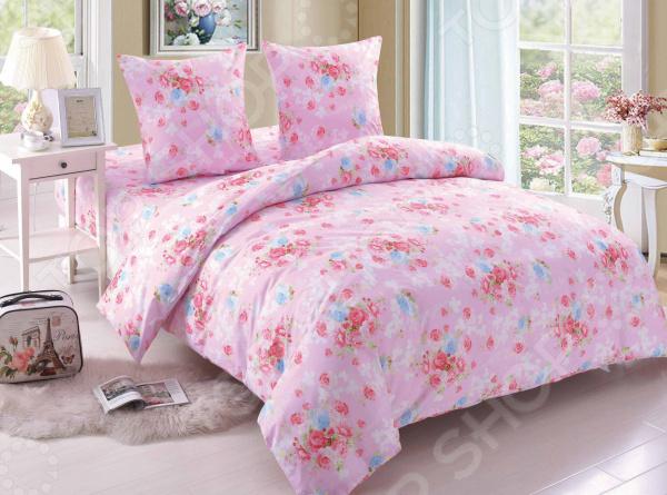 Комплект постельного белья Amore Mio BZ Rose. Цвет: розовый комплекты белья linse комплект белья