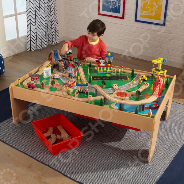 Набор железной дороги игрушечный KidKraft со столом «Горный водопад»