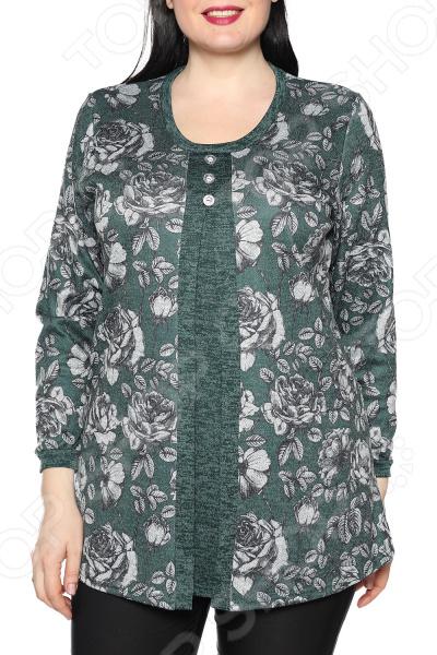 Туника Pretty Woman «Изящный цветок». Цвет: зеленый туника pretty woman шарлота цвет темно синий