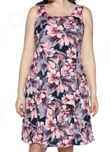 Платье Алтекс «Изобилие цветов». Цвет: персиковый