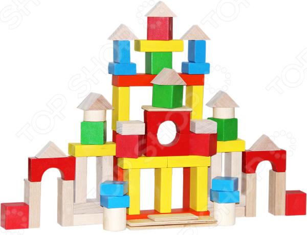 Конструктор деревянный КРАСНОКАМСКАЯ ИГРУШКА НСК-05 «Строим сами» краснокамская игрушка деревянный конструктор малыш