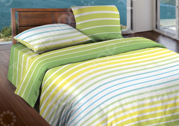 Комплект постельного белья Wenge Stripe. 1,5-спальный. Цвет: желтый