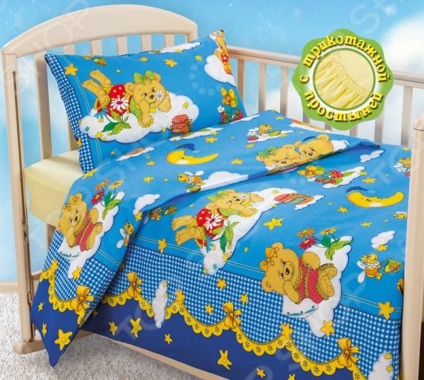 Ясельный комплект постельного белья Бамбино «Сладкий сон» с трикотажной простыней Бамбино - артикул: 826455