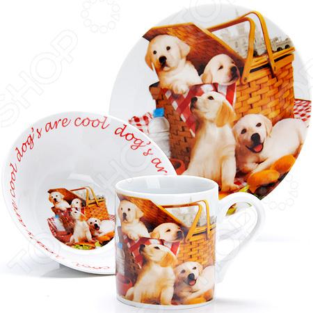 Набор посуды для детей Loraine LR-27120 «Собачка»