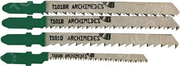 Набор полотен для лобзика Archimedes 91129 пилки для лобзика по металлу для прямых пропилов t318bf 2 шт 2 5 6 мм стандарт