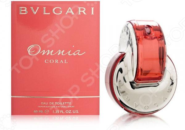Туалетная вода для женщин BVLGARI Omnia Coral, 40 мл туалетная вода bvlgari omnia coral объем 65 мл вес 115 00