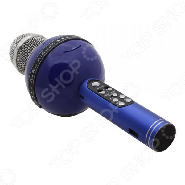 Микрофон для караоке WS878V    /Синий