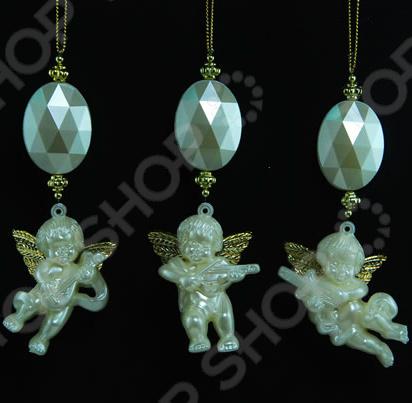 Новогоднее украшение Crystal Deco «Ангел жемчужный». В ассортименте