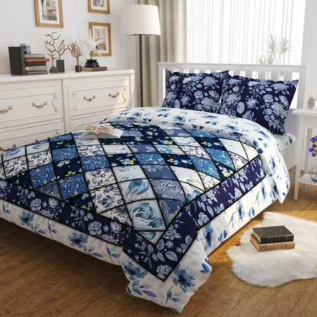 Купить Комплект постельного белья Сирень «Небесная палитра». Евро