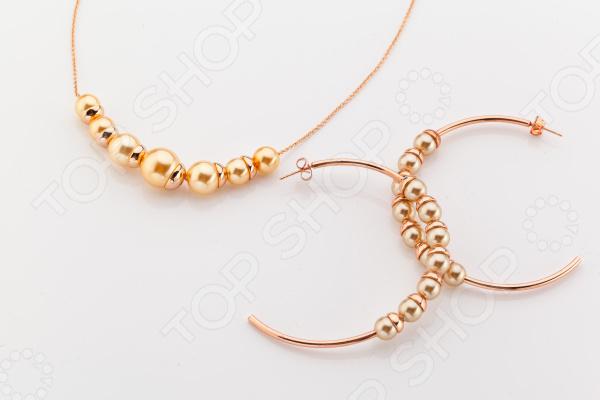 Комплект: ожерелье и серьги Bradex «Матильда» комплект колье серьги slava zaitsev комплект колье серьги page 5