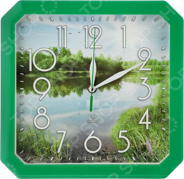 Часы настенные Вега П 4-3/7-82 «Пейзаж» часы настенные вега пейзаж п4 3 7 82 зелёный