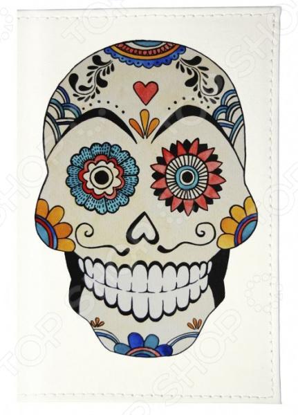 Обложка для паспорта кожаная Mitya Veselkov «Мексиканский череп» mitya veselkov стрекоза и клюква