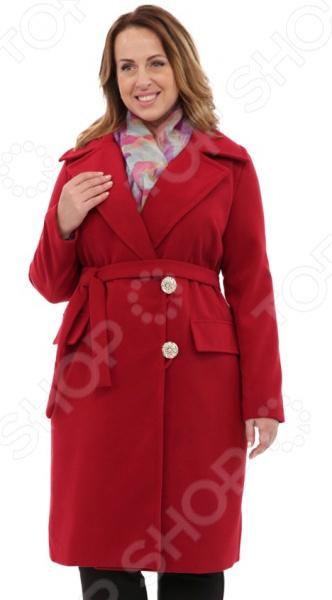 Пальто СВМ-ПРИНТ «Француженка». Цвет: бордовый