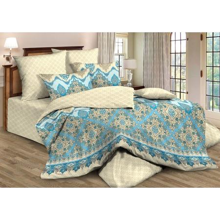 Купить Комплект постельного белья Guten Morgen 664. 1,5-спальный. Цвет: голубой, бежевый