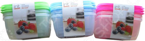 Набор контейнеров для хранения продуктов Irit IRH-026P. В ассортименте