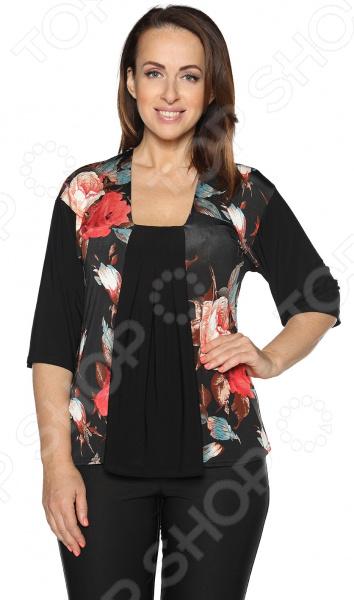 Блуза ТРЕНД «Безупречная». Цвет: черный блуза marse цвет черный