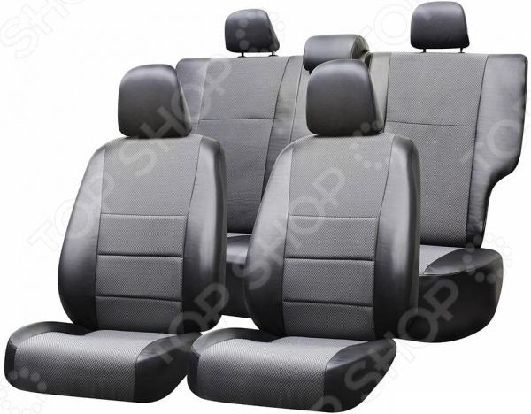 Набор чехлов для сидений Defly Renault Logan, 2004-2014, экокожа ковры в салон seintex renault logan 2004 высокий борт
