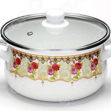 Кастрюля с крышкой Mayer&Boch «Роза» посуда кухонная