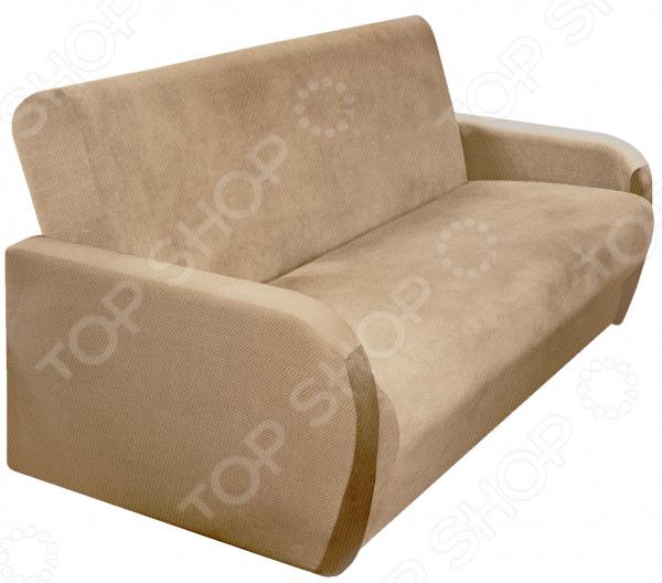 Натяжной чехол на трехместный диван-книжку Медежда «Бирмингем» пленка для старой мебели киев где