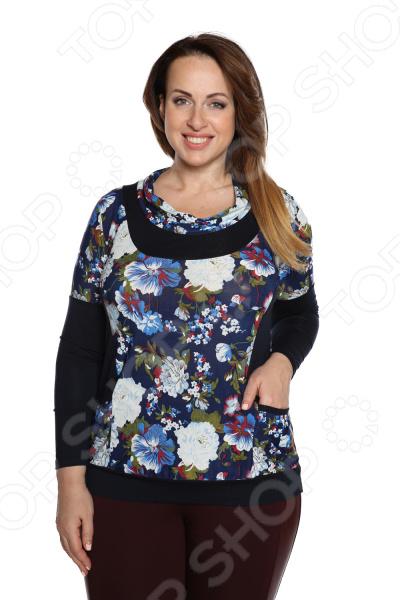 Блуза Матекс «Игривая весна». Цвет: синий блуза матекс радость солнцу цвет красный
