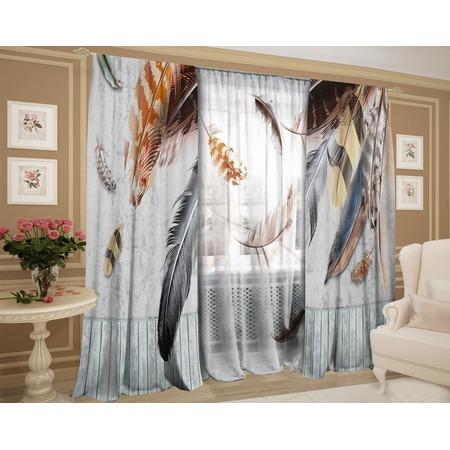 Купить Фотокомплект штор и тюля ТамиТекс «Невесомое перышко»