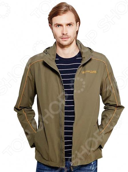 Куртка Finn Flare B17-21008. Цвет: темно-коричневый