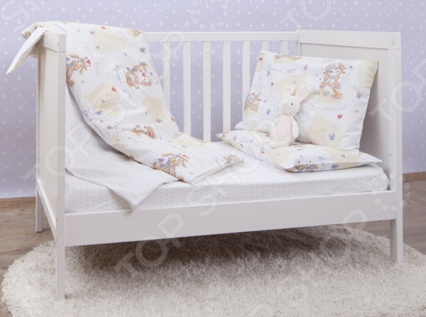 Ясельный комплект постельного белья MIRAROSSI L'amore e'... White