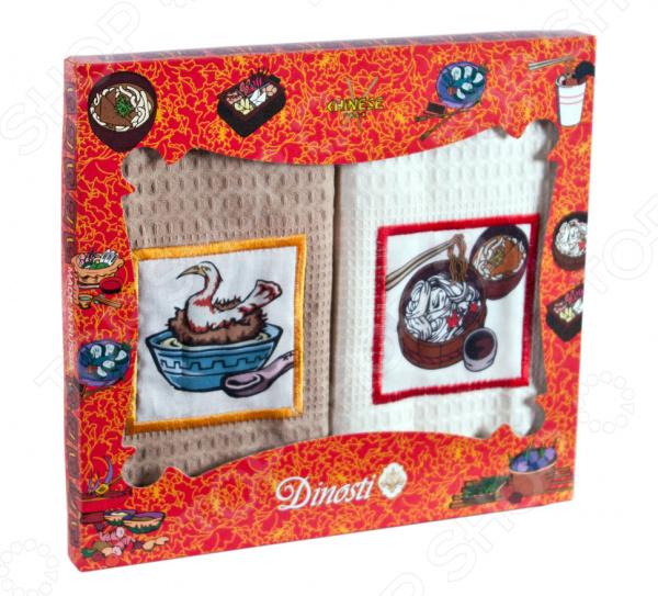 Комплект из 2-х кухонных полотенец Dinosti «Китайская кухня»