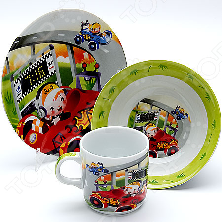 Набор посуды для детей Loraine «Гонки»