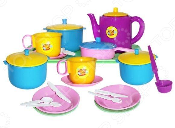 Набор посуды игрушечный Пластмастер «Обед» пластмастер игрушечный набор монтажник