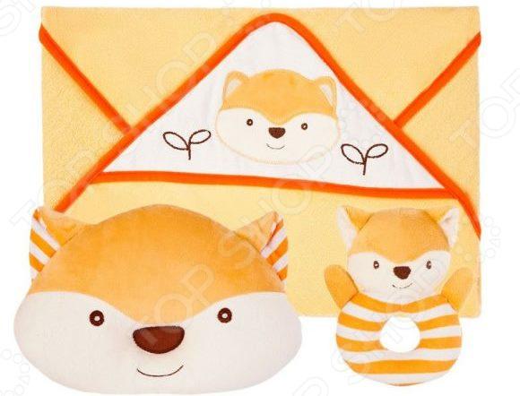 подушки для малыша Комплект для малыша: подушка, полотенце и погремушка Жирафики «Хитрый лисенок»
