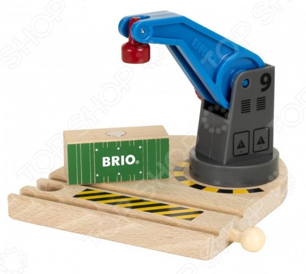 Подъемный кран игрушечный Brio с грузом