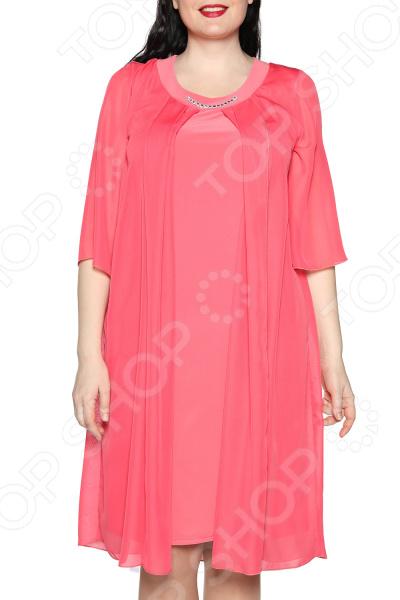 Платье Лауме-Лайн «Звездное настроение». Цвет: коралловый