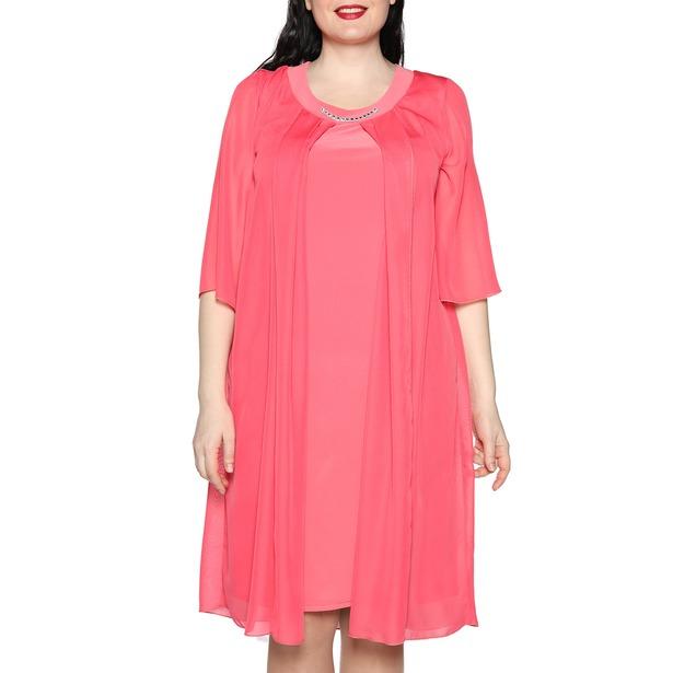фото Платье Лауме-Лайн «Звездное настроение». Цвет: коралловый. Размер одежды: 66-68