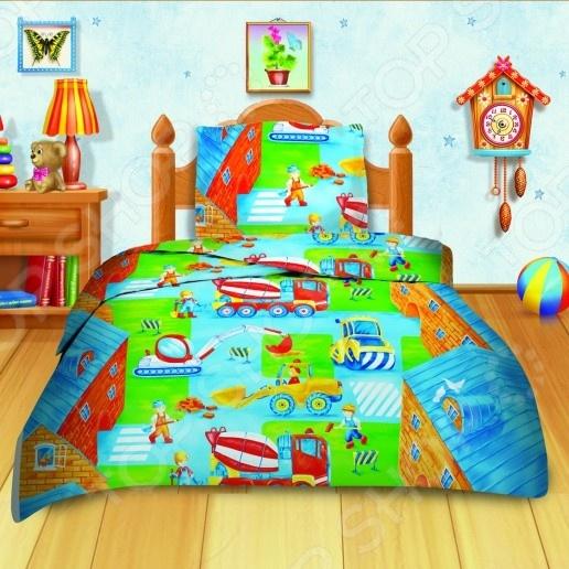 Детский комплект постельного белья Кошки-Мышки «Дорожные работы»