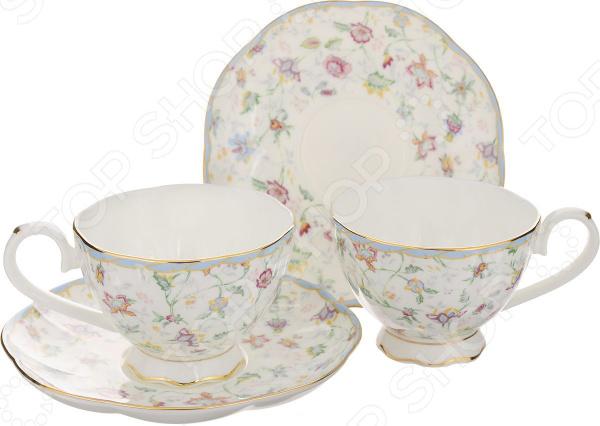 Чайная пара Elan Gallery «Цветочный каприз» 530043 elan gallery чайник цветочный каприз