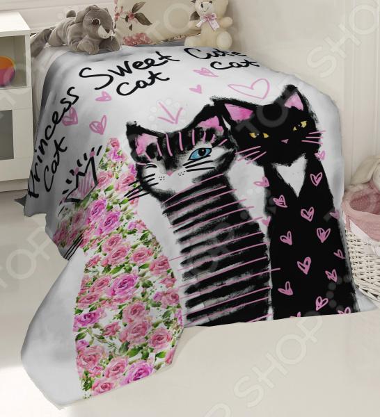 Плед флисовый ТамиТекс «Счастливые кошки»