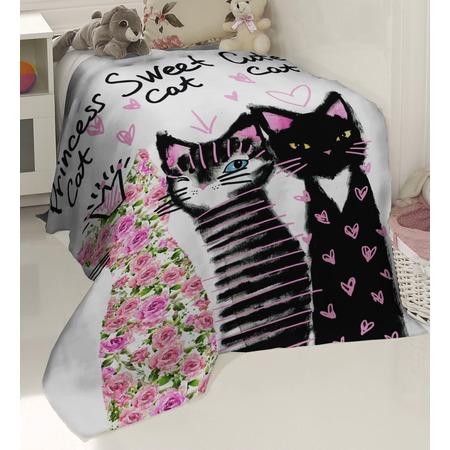 Купить Плед флисовый ТамиТекс «Счастливые кошки»