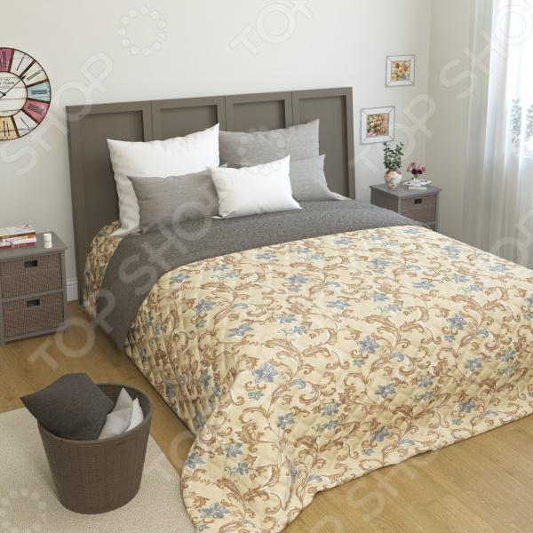 Покрывало стеганое Сирень «Роделия» желтое покрывало на кровать